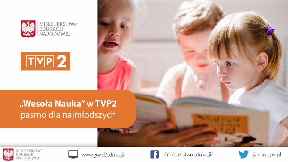 Kanał TVP2 wspólnie z MEN przygotował ofertę dla najmłodszych widzów, ich rodzi...