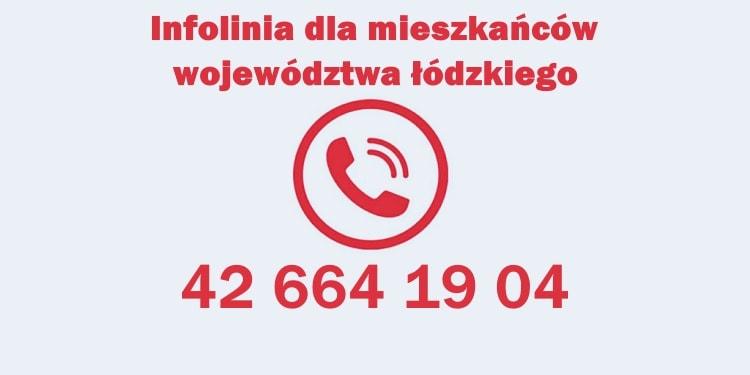 Wojewoda Łódzki Tobiasz Bocheński uruchomił całodobową infolinię dla mieszkańców...