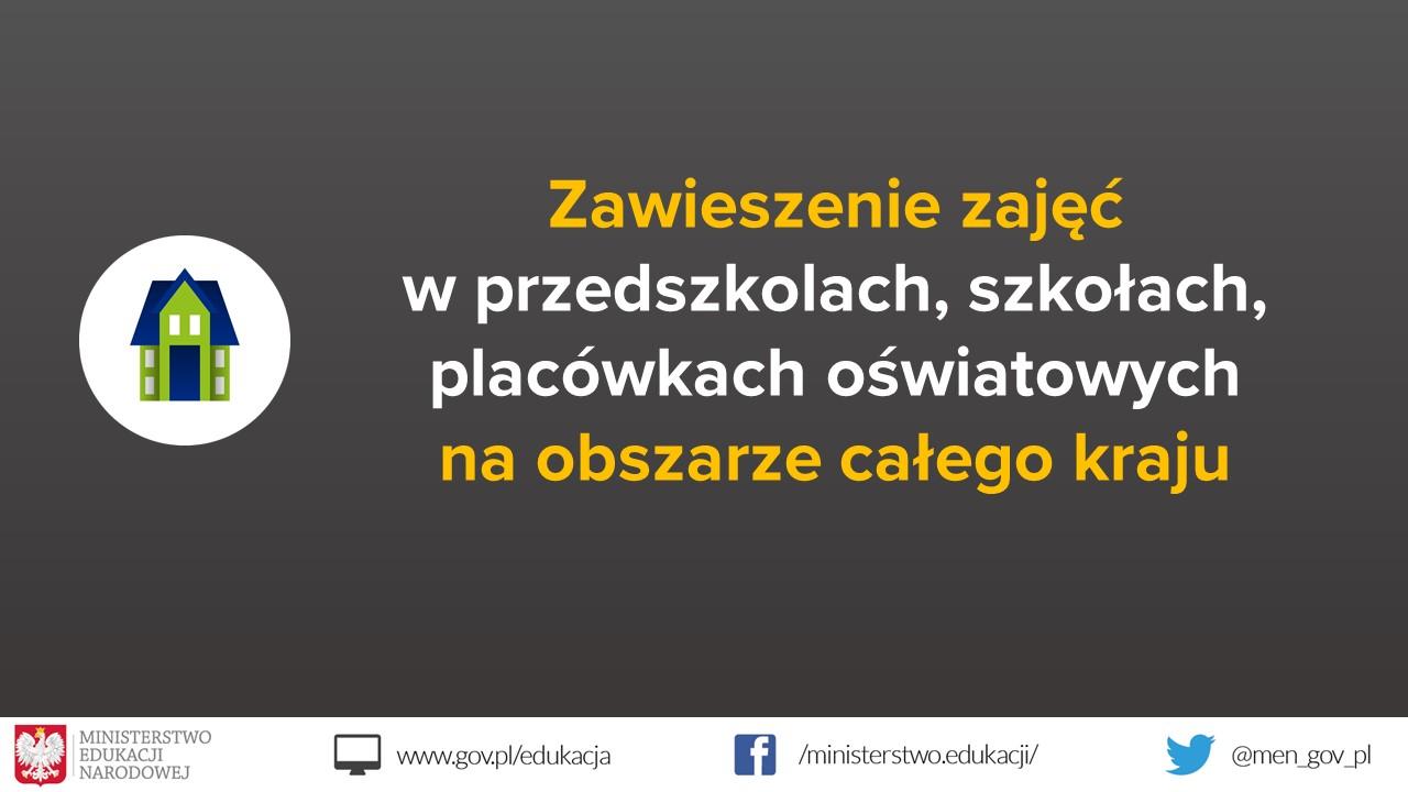 Zawieszenie zajęć dydaktyczno-wychowawczych w przedszkolach, szkołach i placówka...