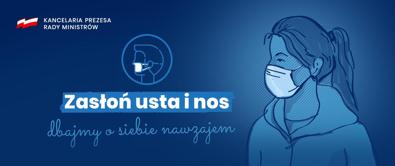 Wychodzisz z domu? Zasłoń usta i nos! - Koronawirus: informacje i zalecenia - Portal Gov.pl