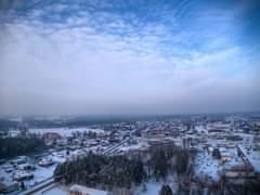 Może być zdjęciem przedstawiającym śnieg, niebo i przyroda
