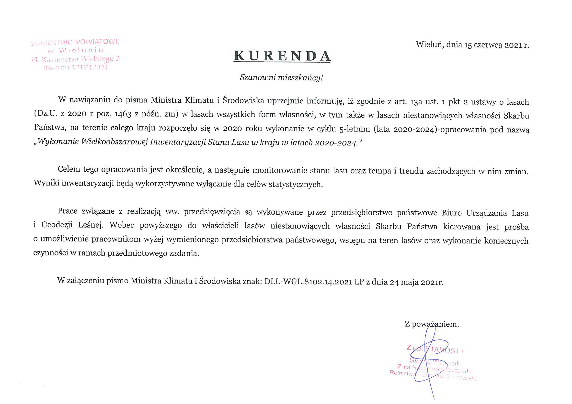 Kurenda Starostwa Powiatowego - Strona główna